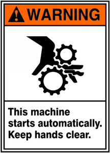 "ANSI SIGN - AUTOMATIC START, 14"" x 10"", Pack/10"