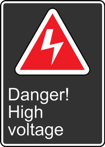 "CSA Safety Sign: Danger! High Voltage, 14"" x 10"", Pack/10"