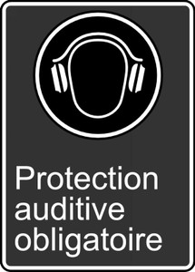 "CSA Safety Sign: Ear Protection Required, 14"" x 10"", Pack/10"