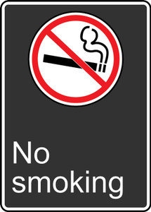 "CSA Safety Sign: No Smoking, 14"" x 10"", Pack/10"