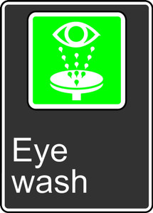 "CSA Safety Sign: Eye Wash, 14"" x 10"", Pack/10"