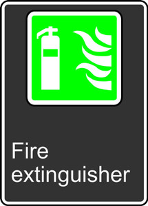 "CSA Safety Sign: Fire Extinguisher, 14"" x 10"", Pack/10"