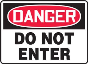 """OSHA Safety Sign - DANGER: Do Not Enter, 14"""" x 20"""", Pack/10"""