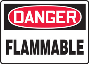 """OSHA Safety Sign - DANGER: Flammable, 14"""" x 20"""", Pack/10"""