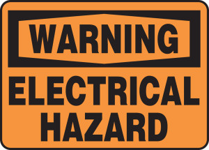 """Warning Safety Sign: Electrical Hazard, 14"""" x 20"""", Pack/10"""