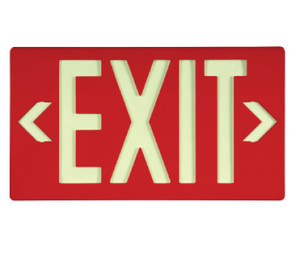 "Glo Brite Eco Exit Sign Red Color with Bracket, 8.75"" x 15.375"""