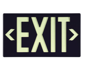 "Glo Brite Eco Exit Sign Black Color with Bracket, 8.75"" x 15.375"""