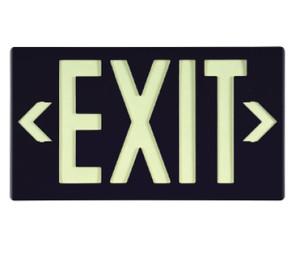 "Glo Brite Eco Exit Sign Black Color with Bracket, 8.75"" x 15.375"""
