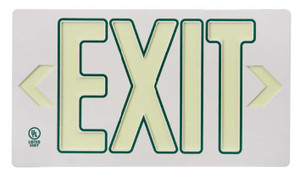 Globrite Eco Exit Sign in White With Green Color With Bracket