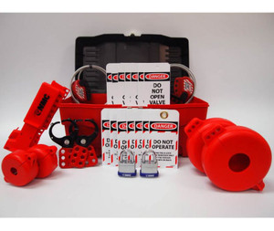 Tool Box Valve Lockout Kit Container Color Red & Black