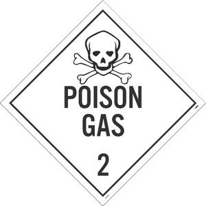 """Poison Gas 2 Dot Placard Sign Pressure Sensitive Removable Vinyl, 10.75"""" X 10.75"""""""