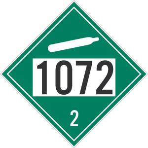 1072 2 Dot Placard Sign Pressure Sensitive Removable Vinyl .0045