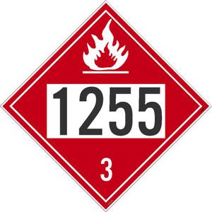 1255 3 Dot Placard Sign Pressure Sensitive Removable Vinyl .0045