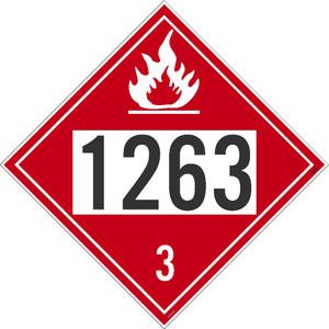 1263 3 Dot Placard Sign Pressure Sensitive Removable Vinyl .0045