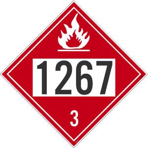 1267 3 Dot Placard Sign Pressure Sensitive Removable Vinyl .0045