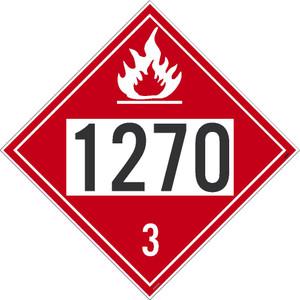 "1270 3 Dot Placard Sign Unrippable Vinyl, 10.75"" X 10.75"""
