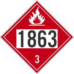 "1863 3 Dot Placard Sign Unrippable Vinyl, 10.75"" X 10.75"""
