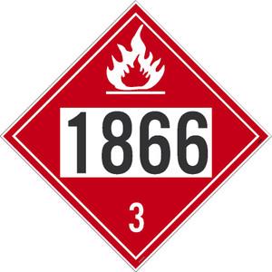 "1866 3 Dot Placard Sign Adhesive Backed Vinyl, 10.75"" X 10.75"""