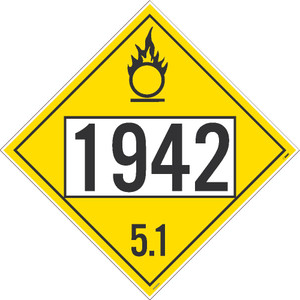 "1942 5.1 Dot Placard Sign Adhesive Backed Vinyl, 10.75"" X 10.75"""