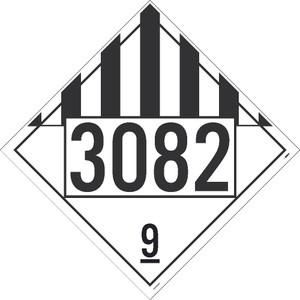"3082 9 Dot Placard Sign Adhesive Backed Vinyl, 10.75"" X 10.75"""