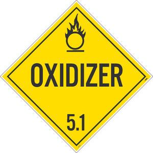 "Oxidizer 5.1 Dot Placard Sign Card Stock, 10.75"" X 10.75"""