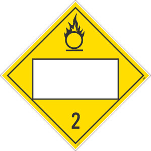 """2 Gases Blank Placard Poison Sign Unrippable Vinyl, 10.75"""" X 10.75"""""""