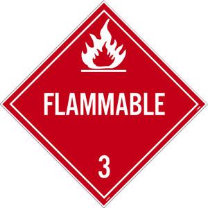 Flammable 3 Dot Placard Sign Pressure Sensitive Removable Vinyl .0045