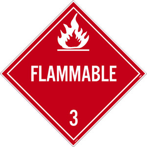 "Flammable 3 Dot Placard Sign Card Stock, 10.75"" X 10.75"""