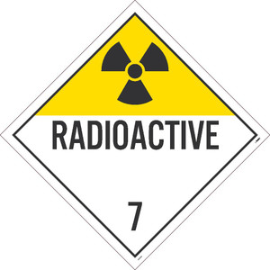 "Radioactive 7 Dot Placard Sign Card Stock, 10.75"" X 10.75"""