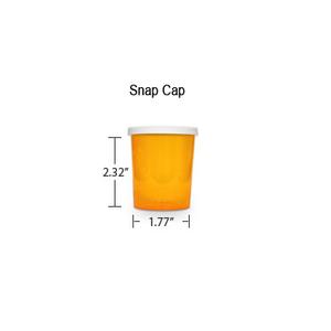 Amber Pharmacy Vials, Snap Off Caps, 20 dram (1.25 oz)