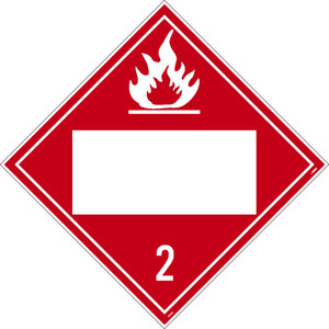 2 Gases Poison Blank Placard Pressure Sensitive Removable Vinyl .0045