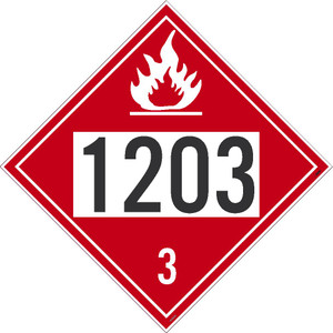 "1203 3dot Placard Sign Unrippable Vinyl, 10.75"" X 10.75"""