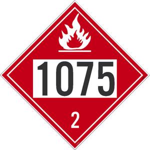 1075 2 Dot Placard Sign Pressure Sensitive Removable Vinyl .0045