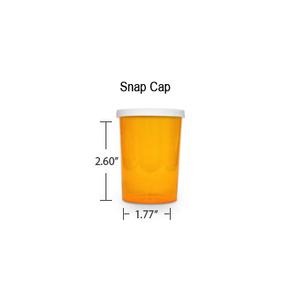 Amber Pharmacy Vials, Snap Off Caps, 30 dram (1.875 oz)