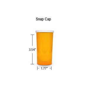 Amber Pharmacy Vials, Snap Off Caps, 40 dram (2.5 oz)