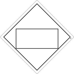 Misc Blank Dot Placard Sign Pressure Sensitive Removable Vinyl .0045