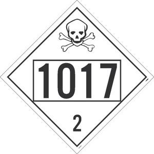 "1017 2 Dot Placard Sign Adhesive Backed Vinyl, 10.75"" X 10.75"""