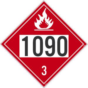"1090 3 Dot Placard Sign Adhesive Backed Vinyl, 10.75"" X 10.75"""