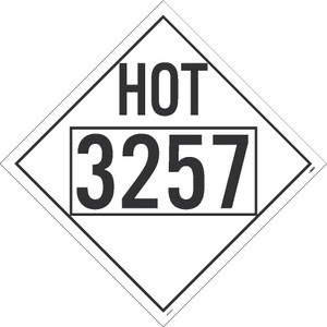 """Hot 3257 Misc Dot Placard Sign Adhesive Backed Vinyl, 10.75"""" X 10.75"""""""