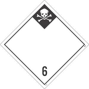 6  Infectious Substances Blank Dot Placard Pressure Sensitive Removable Vinyl .0045