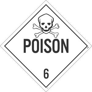 Poison 6 Dot Placard Sign Pressure Sensitive Removable Vinyl .0045