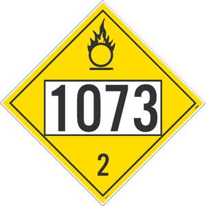 "1073 3 Dot Placard Sign Pressure Sensitive Removable Vinyl .0045, 10.75"" X 10.75"""