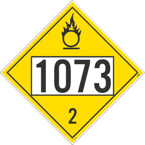 "1073 3 Dot Placard Sign Unrippable Vinyl, 10.75"" X 10.75"""