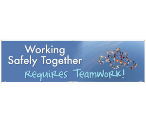 "Working Safely Together Banner Polyethylene, 36"" X 10'"