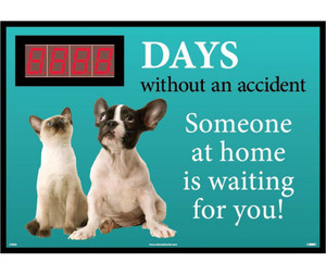 "Days Without An Accident Someone At Home Is Waiting For You Scoreboard, 28"" X 20"""