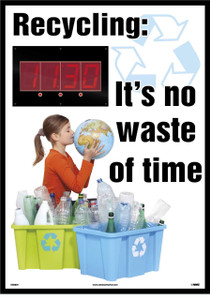 """Recycling Its No Waste Of Time Insight Digital Scoreboard, 28"""" X 20"""""""
