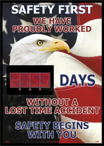 "Safety First America Themed Insight Digital Scoreboard, 28"" X 20"""