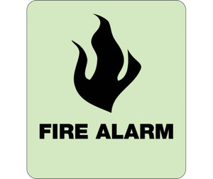 """Glow Fire Alarm Braille Sign Engraved Signs, 8"""" X 8"""""""