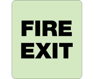 "Glow Fire Exit Braille Sign Engraved Signs, 8"" X 8"""