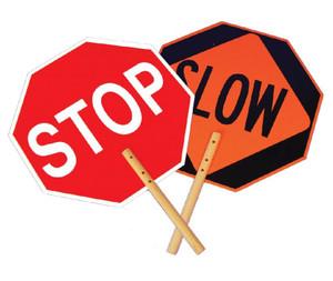 "Aluminum Reflective Safe-t-paddle Stop/Slow Engineer Grade Reflective, 18"" X 18"""